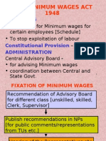 THE MINIMUM WAGES ACT 1948