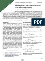 Analysis of Ici Using Blackman Gaussian and Kaiser Window Fuctions