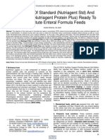 Formulation of Standard Nutriagent Std and High Protein Nutriagent Protein Plus Ready to Reconstitute Enteral Formula Feeds