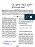 Simulations of the Potential Yields of Jenguma Soybean Variety in the Upper West Region Using Aquacrop Model