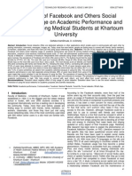 The Impact of Facebook and Others Social Networks Usage on Academic Performance and Social Life Among Medical Students at Khartoum University