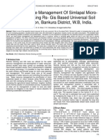Water Resource Management of Simlapal Micro Watershed Using Rs Gis Based Universal Soil Loss Equation Bankura District Wb India