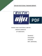 Bhel Haridwar Vocational Training Report