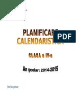 Planificare Clasa a IVa 2014/ 2015