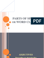 parts of speech or word classes-demo1