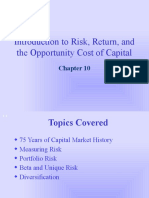 Risk, return and Opp.Cost of Capital