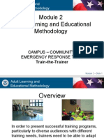 Adult Learning and Educational Methodology