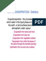 Evapo Transpiration