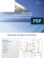How to Use Visio 2010 for Business Analysis
