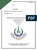 Intrernational Trade Assignment 2
