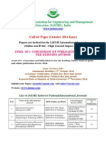 Call for Paper _October 2014 Issue