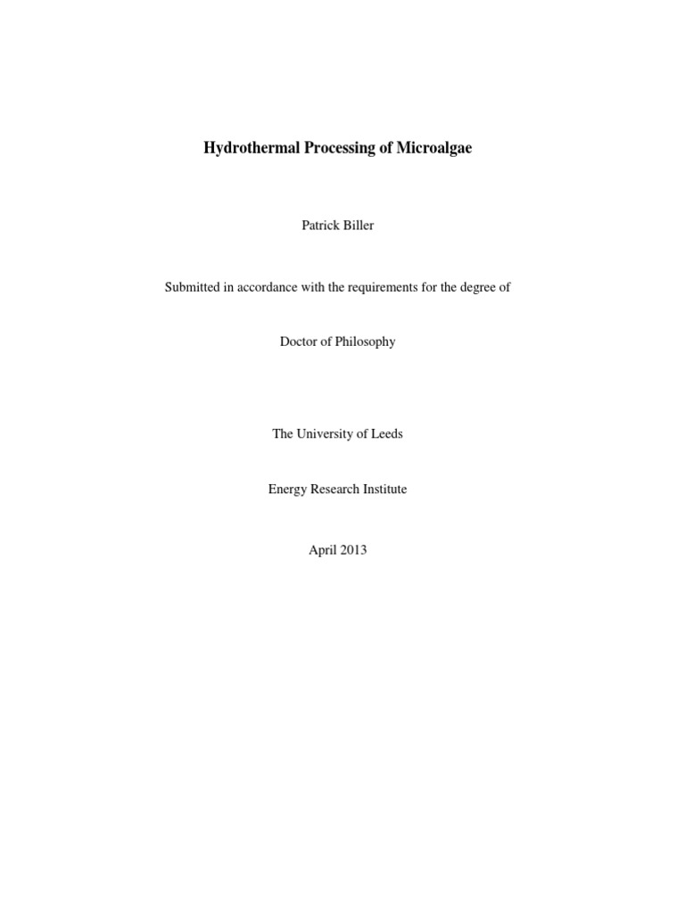 Phd thesis biodiesel