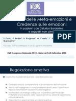 Il ruolo delle Meta-emozioni e Credenze sulle emozioni  - Giuri S. Sitcc 2014