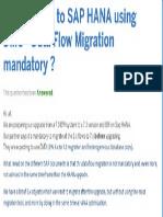 BW Upgrade to SAP HANA Using DMO
