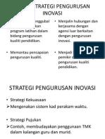 Aspek Strategi Pengurusan Inovasi