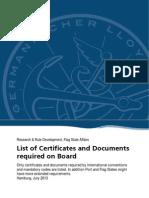 List of Certificates Gl
