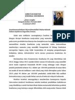 Sambutan Rektor Angkatsumpah Dokter 11 Januari 2014