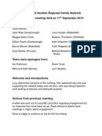 Yorkshire & Humber Families Network Sep 11 Notes Final