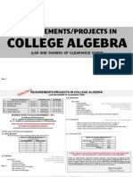 Revised Requirements in College Algebra