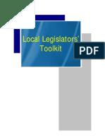 Local Legislators Toolkit (LGSP)
