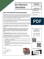 October 14 Newsletter