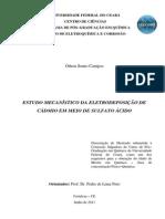 Estudo mecanístico da eletrodeposição de cádmio em meio de sulfato ácido