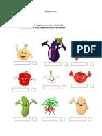 Worksheet Vegetables