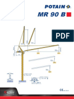 Potain MR90B-LZK3 tower crane