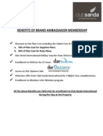 Benefits of Brand Ambassador Membership