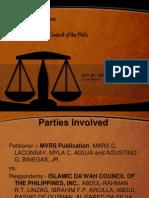 MVRS v IDCP