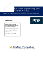 English Solutions for Engineering and Sciences Research Writing