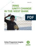 Fostering Community Change in the West Bank
