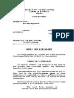 Sample Brief for Appellant-rape