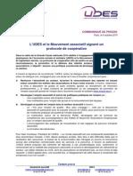 CP- Un protocole de coopération entre Le Mouvement associatif et l'UDES