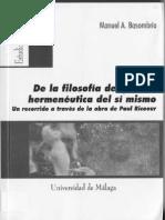 DE LA FIL DEL YO A LA HERMENÉUTICA EL SÍ MISMO. UN RECORRIDO A TRAVÉS DE LA OBRA DE PAUL RICOEUR.pdf