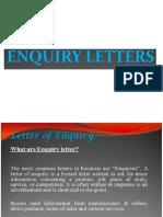Enquiry Letter