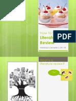 Workshop 5 - Lit Review