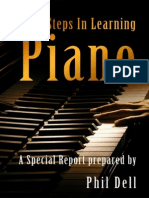 First Steps In Learning Piano