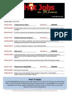 Hot Jobs List 10-03-2014