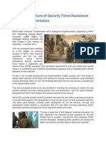 20141003 Exploring the Future of Security Force Assistance Through Experimentation