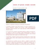 Italcementi 18 Gennaio 2007 Consiglio Comunale Italcementi Sodano Medici Per l'Ambiente