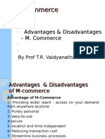 Adv & Disadv of m commerce