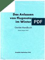 Anlassen Flugmotoren im Winter