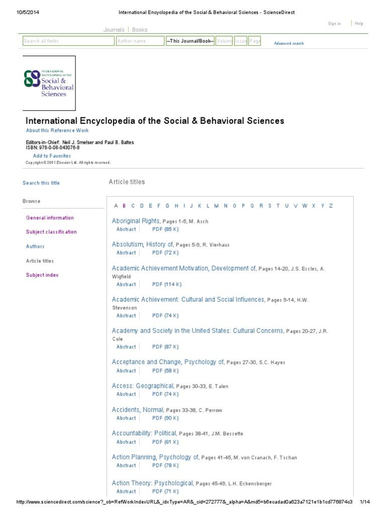 International Encylopedia Of Social Behavioral Sciences Moen 7790 Parts List And Diagram Ereplacementpartscom Causality Psychology Cognitive Science
