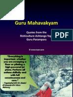 Guru Mahavakyam