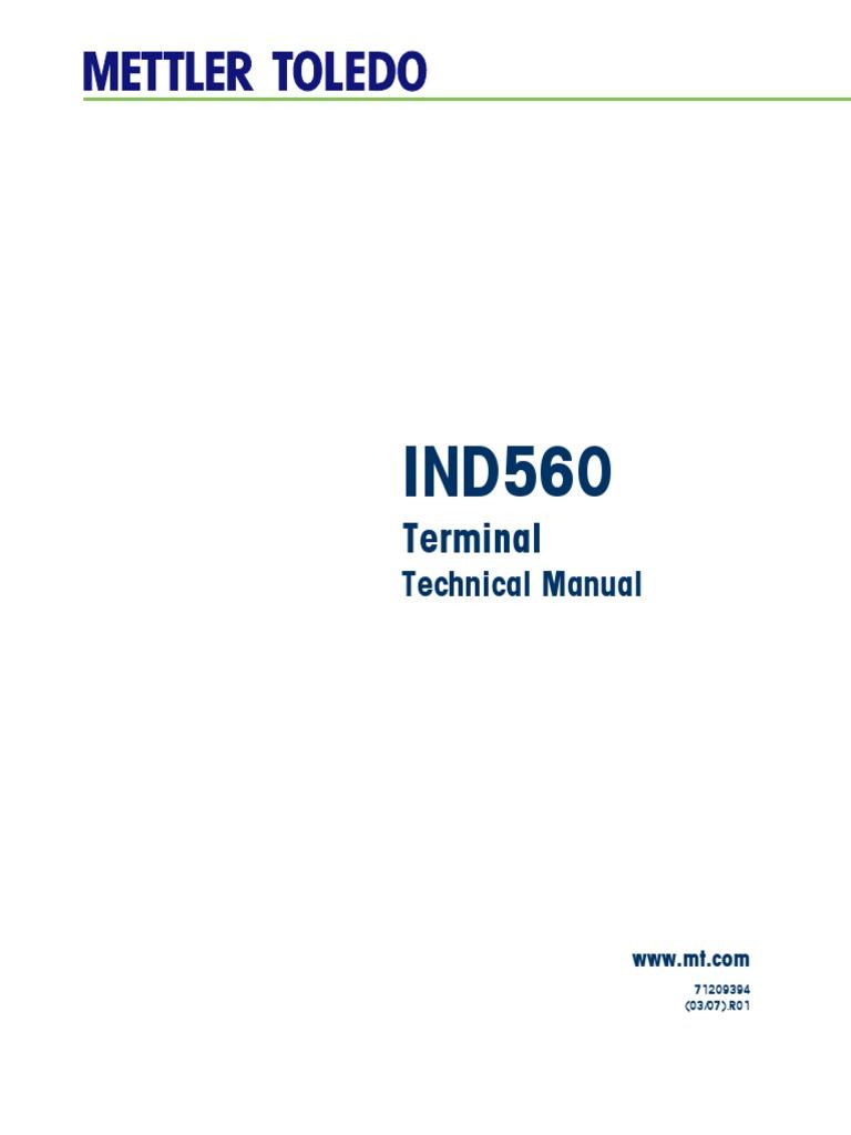 ind560 technical manual pdf programmable logic controller rh scribd com mettler ind560 technical manual ind560 terminal technical manual