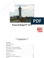 Proposed RIOC Budget FY 2011