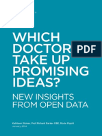 Which Doctors Take Up Promising Ideas? New Insights from Open Data