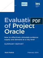 Evaluation of Project Oracle