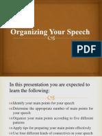 Organizing Your Speech
